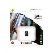 Карта памяти MicroSDHC Kingston 64 GB 100Mb/s, class 10 (без адаптера)